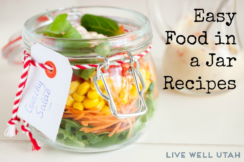 Food in a jar recipes live well utah delicious salad put into a jar for easy transport forumfinder Gallery